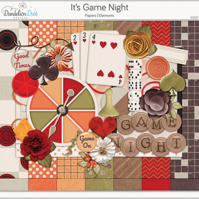 It's Game Night Digital Scrapbook Collection